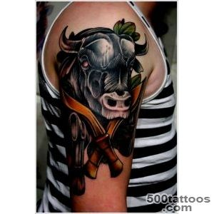 30 Dandy Bull Tattoo Designs_16