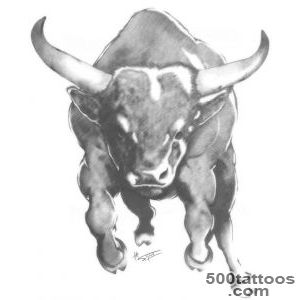Pin Large Bull Tattoo On Biceps For Men Tattooshuntcom on Pinterest_49