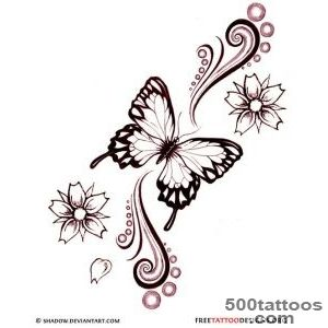60 Butterfly Tattoos  Feminine And Tribal Butterfly Tattoo Designs_10