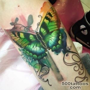 Green Butterfly Tattoo  Best tattoo ideas amp designs_37