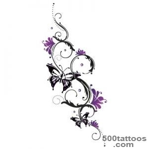 Tribal flower butterfly tattoo style vector by christine krahl _50