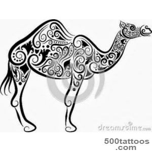 Camel tattoo design, idea, image