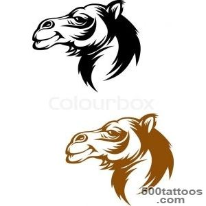 Camel head in cartoon style for mascot or tattoo design  Vector _27