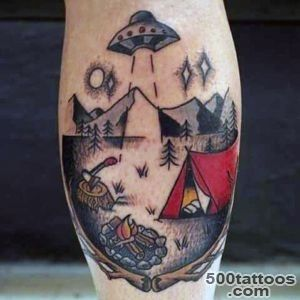 100 UFO Tattoo Designs For Men   Alien Abduction Ink_4