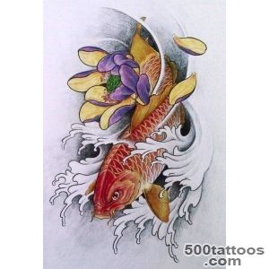 5 Tatoos Popular Koi fish tattoo design books_49