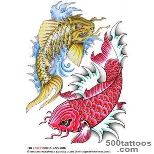 40 Koi Fish Tattoos  Japanese And Chinese Designs_37