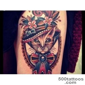 45 Cute Cat Tattoo designs and ideas   Spiritual luck_15