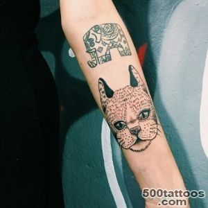 45 Cute Cat Tattoo designs and ideas   Spiritual luck_41