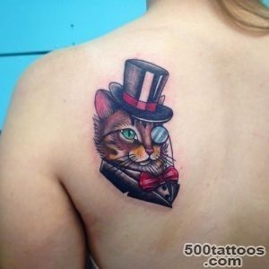 45 Cute Cat Tattoo designs and ideas   Spiritual luck_44
