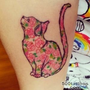 50 Cute And Lovely Cat Tattoos  Tattoos Me_18