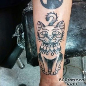 50 Cute And Lovely Cat Tattoos  Tattoos Me_39