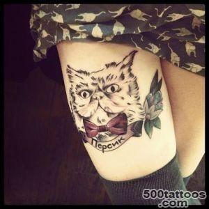 50 Cute And Lovely Cat Tattoos  Tattoos Me_45