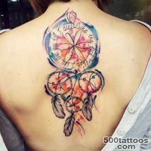 25 Colorful Dream Catcher Tattoo That Will be Uniquely Your Own_29