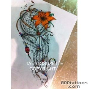 Dream Catcher Tattoo Ideas Stencils for Pinterest_23