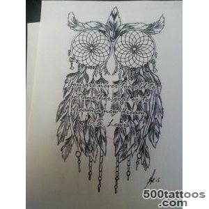 Owl dream catcher tattoo!  N E A T O  Pinterest  Owl Dream _33