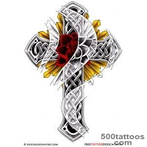 50 Cross Tattoos  Tattoo Designs of Holy Christian, Celtic and _22