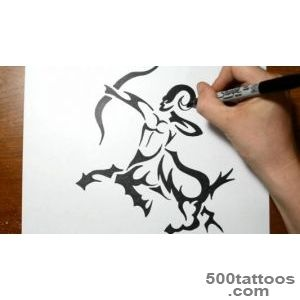 How to Draw a Tribal Centaur   Sagittarius Tattoos   YouTube_35