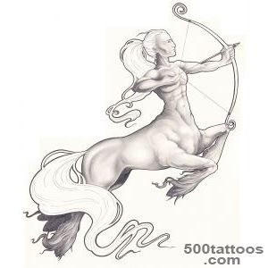 Centaur tattoo designs, ideas, meanings, images