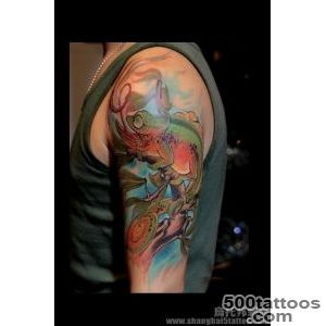 chameleon tattoo  tattoo  Pinterest  Chameleon Tattoo _22
