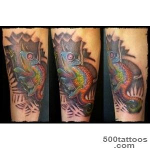 Meaning and photo tattoo hameleon_11