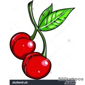 Cherry Tattoo Stock Vectors amp Vector Clip Art  Shutterstock_9