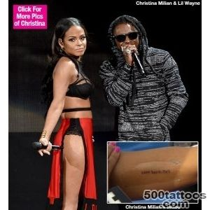 Christina Milian#39s Tattoo For Lil Wayne — What #39Love Hard TNT _37