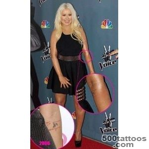 Meaningful and Memorable Christina Aguilera Tattoos_27