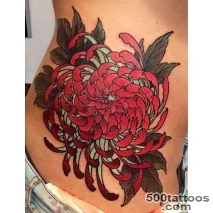 40 Beautiful Chrysanthemum Tattoo Ideas  Art and Design_4