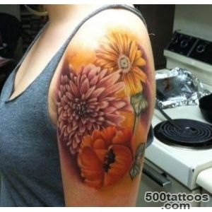 40 Beautiful Chrysanthemum Tattoo Ideas  Art and Design_5