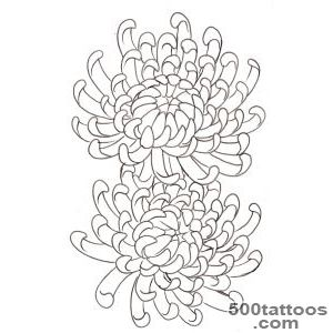 Blue Chrysanthemum Tattoo Design  Fresh 2016 Tattoos Ideas_40