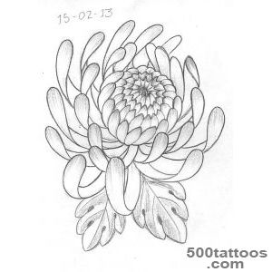 Chrysanthemum Flower Tattoo On Full Sleeve_20