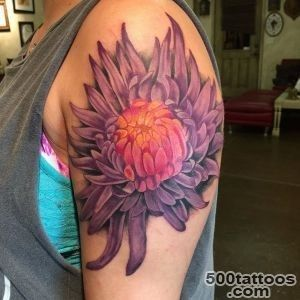Chrysanthemum Tattoos, Designs And Ideas_43