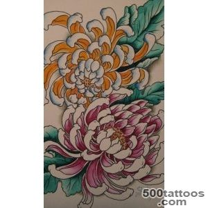 Chrysanthemum Tattoos, Designs And Ideas  Page 4_6