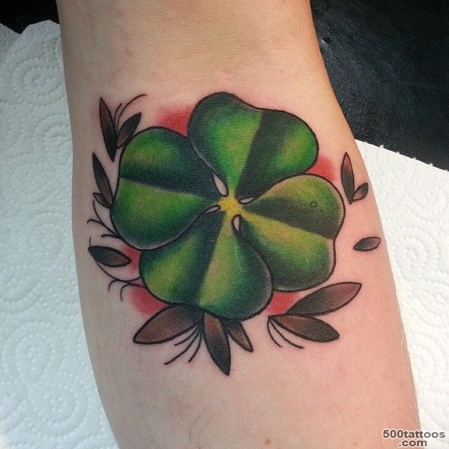 45 Cute Four Leaf Clover Tattoo Ideas and Designs   Lucky Grass_3