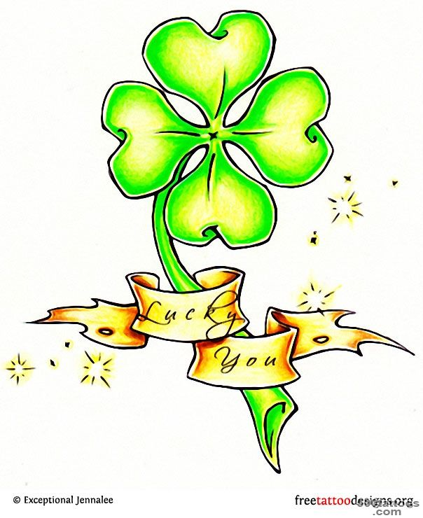 77 Irish Tattoos  Shamrock, Clover, Cross, Claddagh Tattoo Designs_43