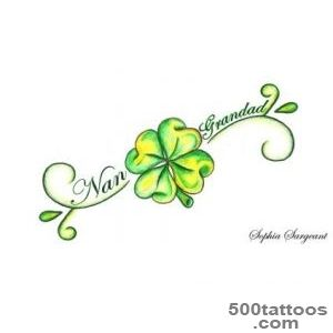 24 Lucky Irish Four Leaf Clover Tattoos Designs  Tattoo ideas _21