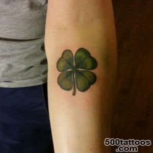 45 Cute Four Leaf Clover Tattoo Ideas and Designs   Lucky Grass_9