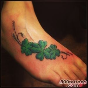 45 Cute Four Leaf Clover Tattoo Ideas and Designs   Lucky Grass_12