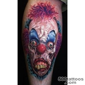 10 Creepy Clown Tattoos  Tattoocom_42