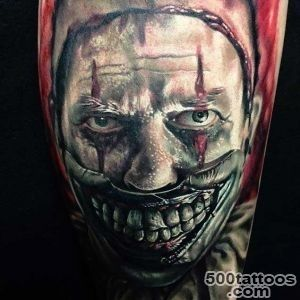 20 Horrifying Clown Tattoos That Will Haunt Your Dreams   TattooBlend_37