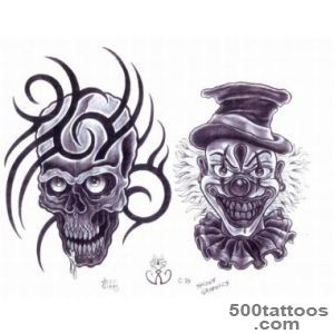 40+ Best Clown Tattoo Designs_8