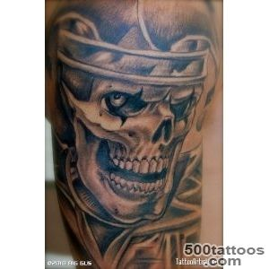 Gangster Clown Tattoos  Evil Clown Smoking Tattoo  INK _33