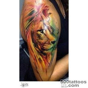 Water Color Tattoo (399) Adam Kremer   Lion  Water Color Tattoos _50