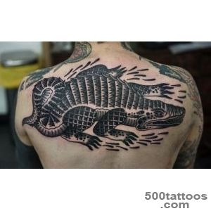 Back Crocodile Tattoo by Philip Yarnell_37