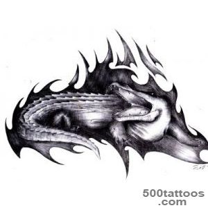Bite Of Crocodile Tattoo   Tattoo Design Ideas_22