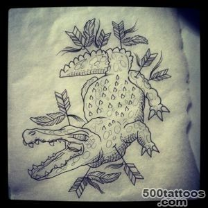 Crocodile sketch  Best tattoo ideas amp designs_45