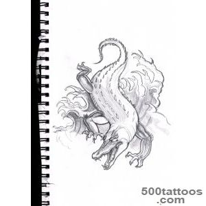 DeviantArt More Like Japanese crocodile tattoo sketch by Unmei Wo _15