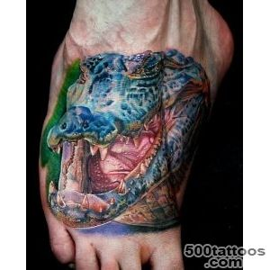 Realistic Foot Crocodile Tattoo by Cecil Porter_36