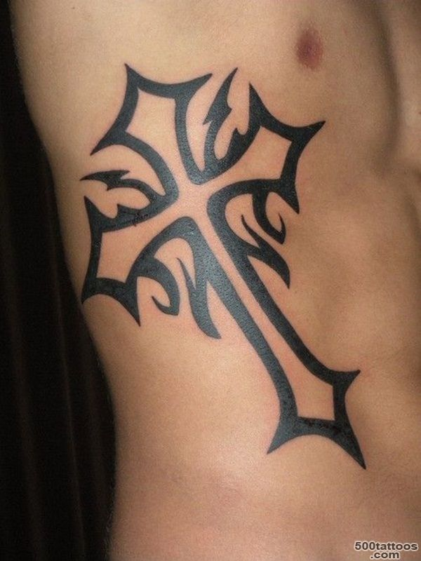 40+ Mysterious Cross Tattoo Designs   Characteristic Symbol_20
