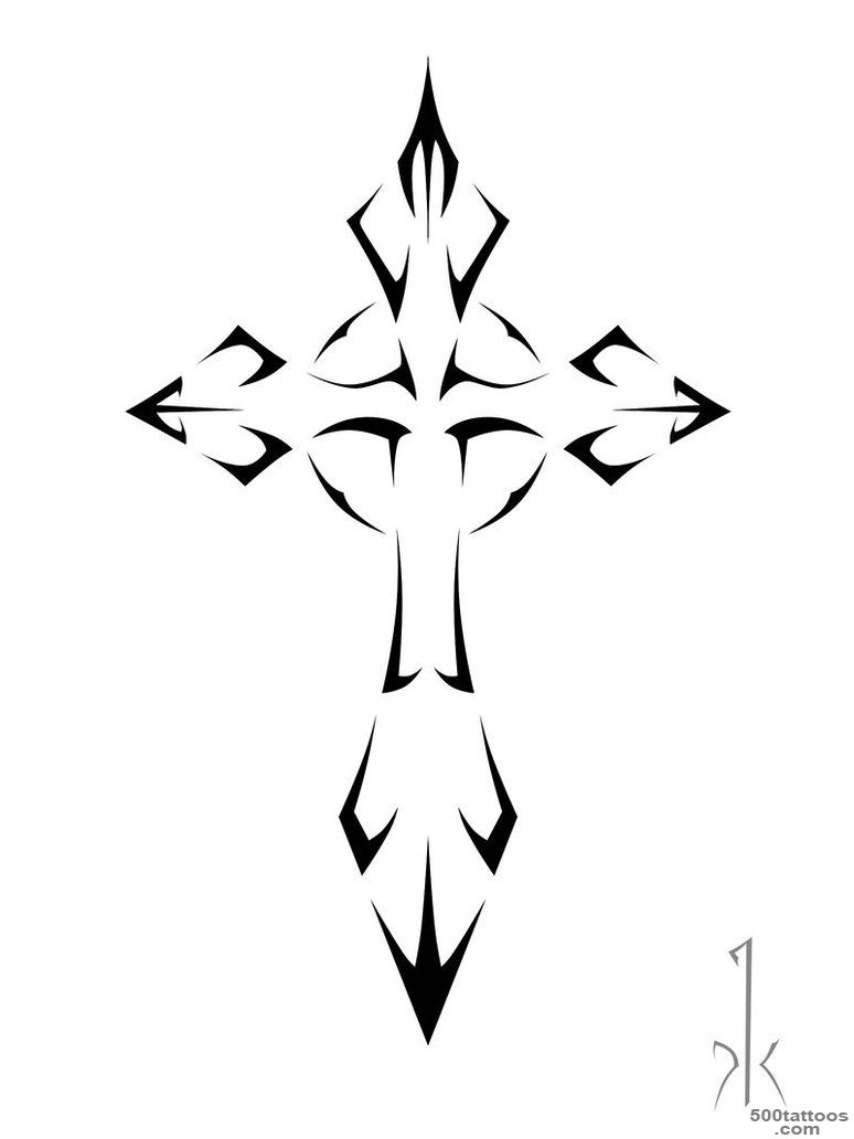 Tribal cross tattoo  Tattoo Collection_30